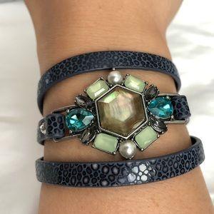 Chloe + Isabel Beau Monde leather wrap bracelet